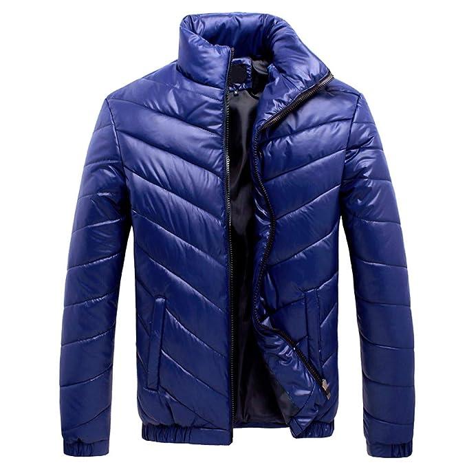 Amazon.com: Mens Winter Leisure Zipper Pocket Down Jackets ...