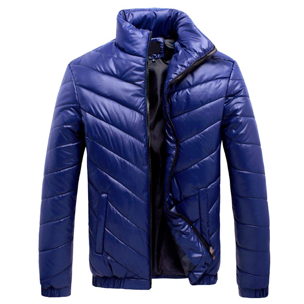 SMALLE ◕‿◕ Clearance,Men's Winter Leisure Zipper Pocket Down Jackets Stand Collar Outwear Tops Coat