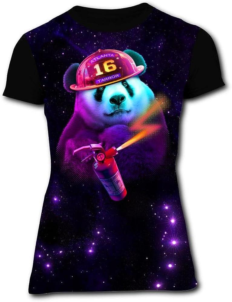 Gujigur Womens T Shirt Creative Art Creepy Cat Summer Casual Short Sleeve Tee Creative 3D Printed Hipster Design