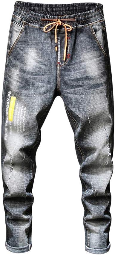 Guocu Jeans Hombre Rotos Pantalones De Mezclilla Vaqueros Cintura Elastica Amazon Es Ropa Y Accesorios