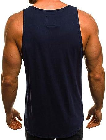 aiNMkm Camiseta sin Mangas para Hombre, con Estampado de ...