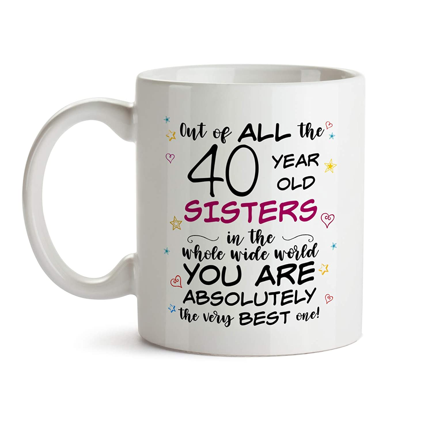 40th Sister Birthday Gift Mug