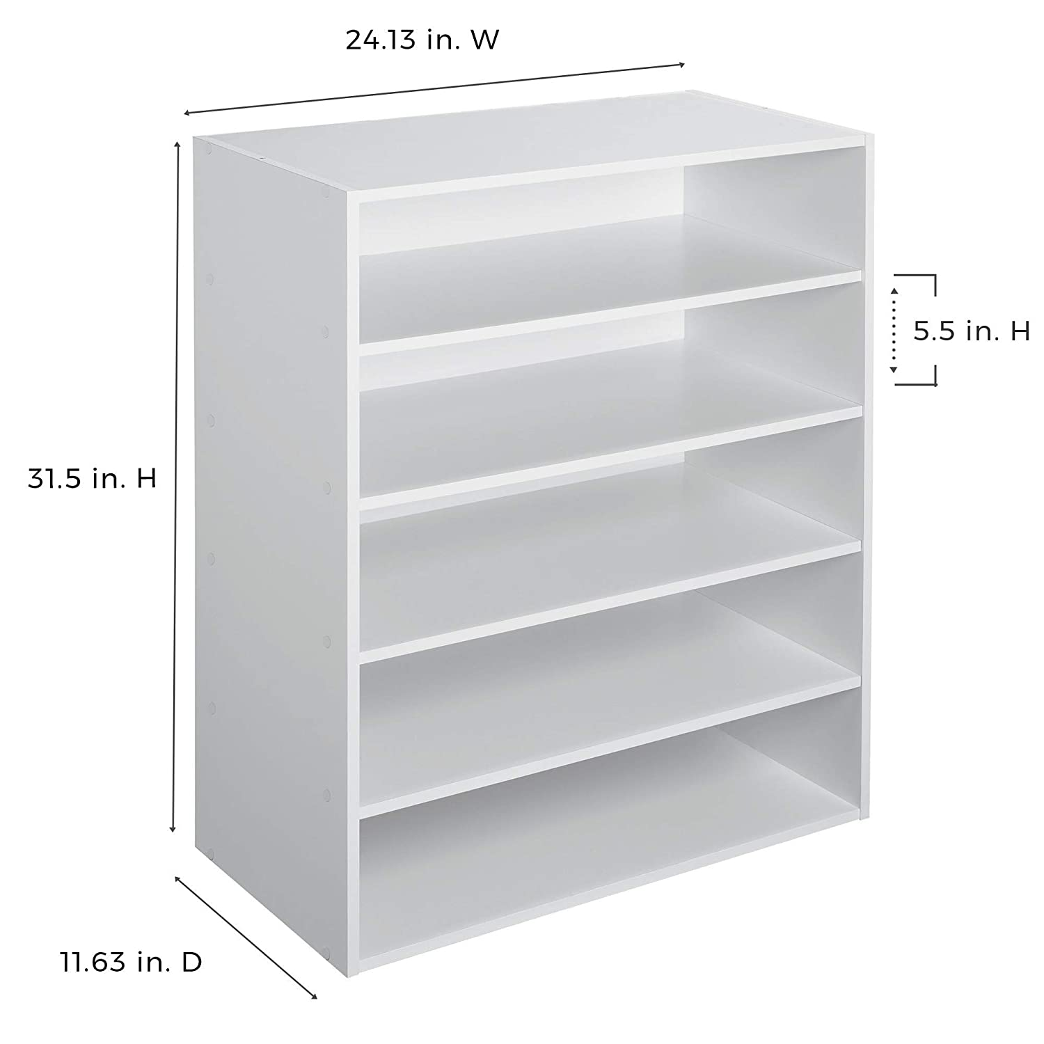 Amazon Com Closetmaid 1565 Stackable 5 Shelf Organizer White Home