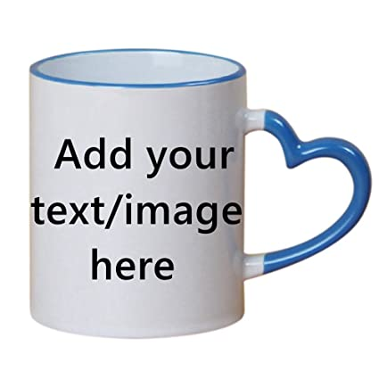 Creative Custom Mugs Name 1 Personalized Letters Coffee Cups Blue Text A Present Add Ceramic Your 8mwnN0v
