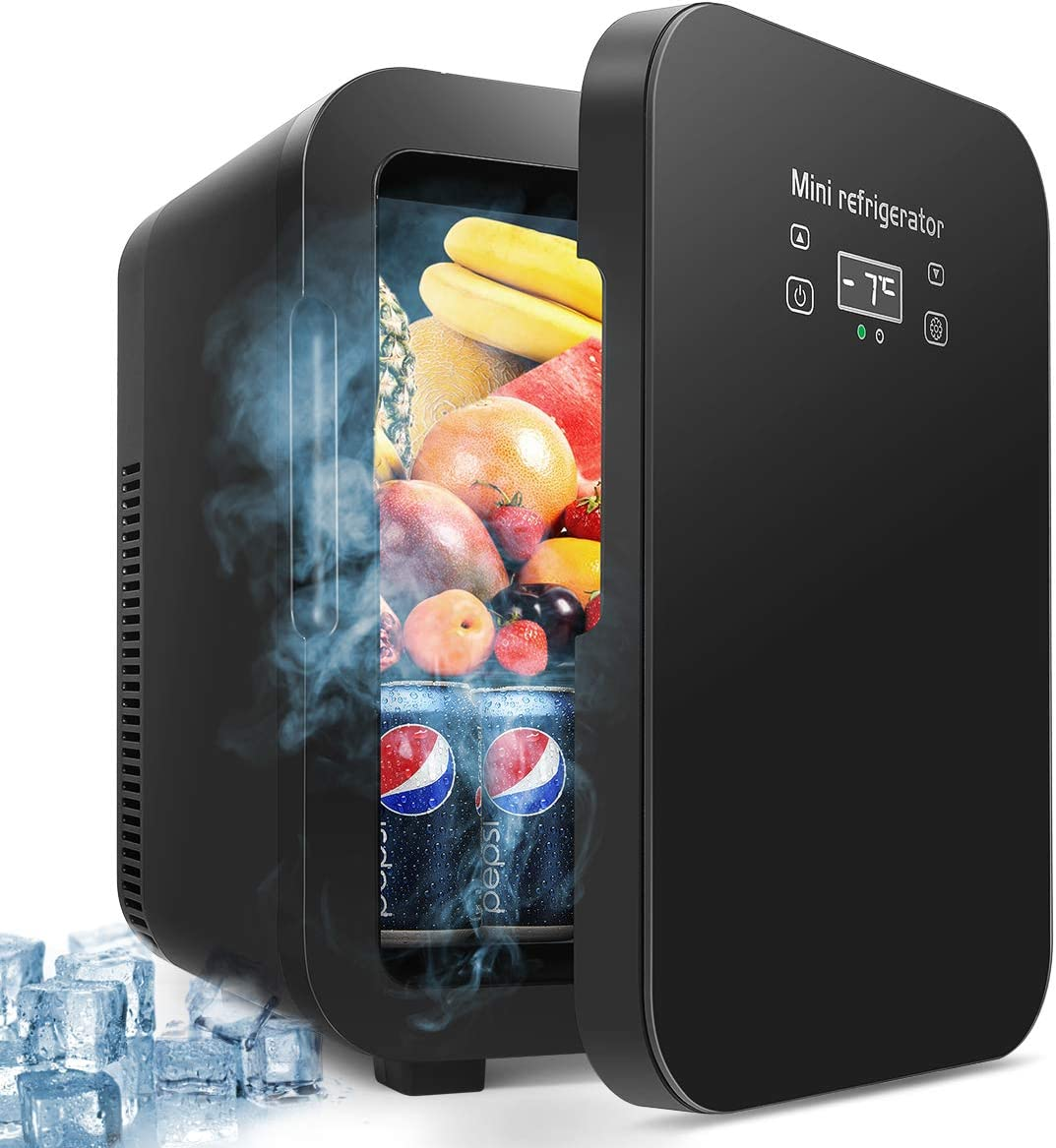 10L Mini Fridge, Portable Freezer, Large Capacity Compact Cooler and Warmer with Digital Thermostat Display and Control Temperature