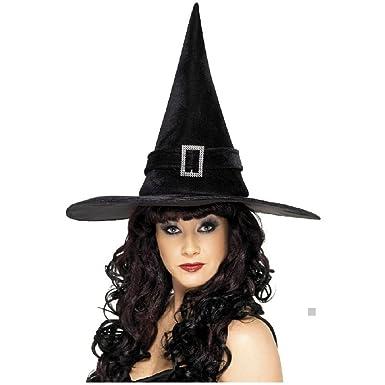 Amazon.com: Brujas sombrero con diamante hebilla traje ...