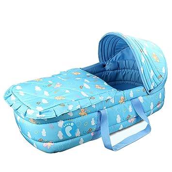 Amazon.com   OLizee baby carrycot infant carrier snuggle nest baby infant  cribs infant transporter Nursery Portable Infant basket (azure)   Baby