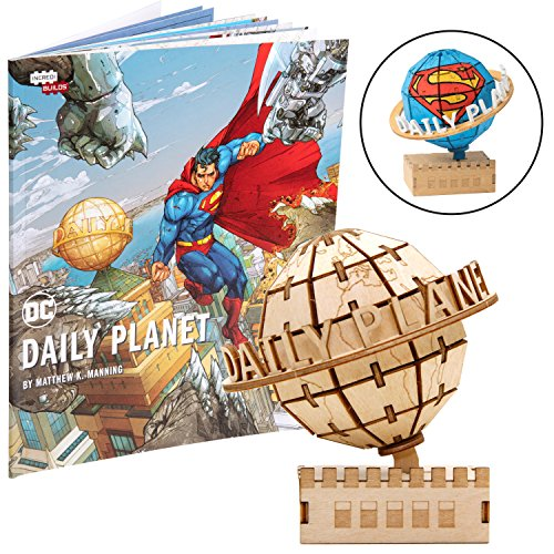 (DC Comics Superman Daily Planet Book and 3D Wood Model Kit - Build, Paint and Collect Your Own Wooden Model - Great for Kids and Adults, 12+ - 3.25
