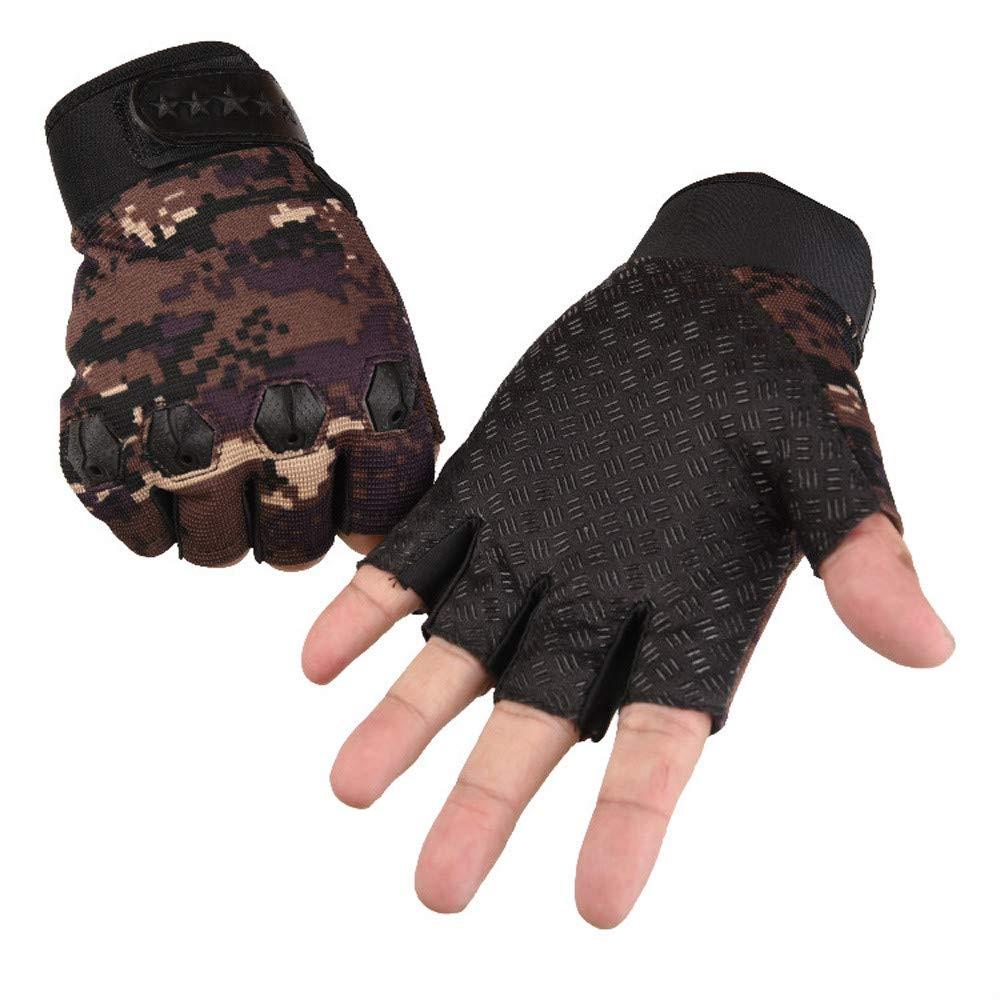 Cebbay Gants Homme Hiver Chauds Respirant V/élo Sports en Laine Gants Demi-Doigts Gloves Mitaine