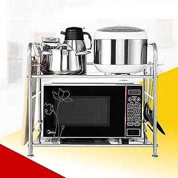 GRY Cocina Microondas Horno Racks Acero inoxidable Doble ...