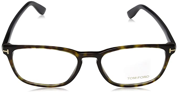 88a2e9a025 TOM FORD Eyeglasses FT5355 052 Dark Havana 56MM at Amazon Men s Clothing  store
