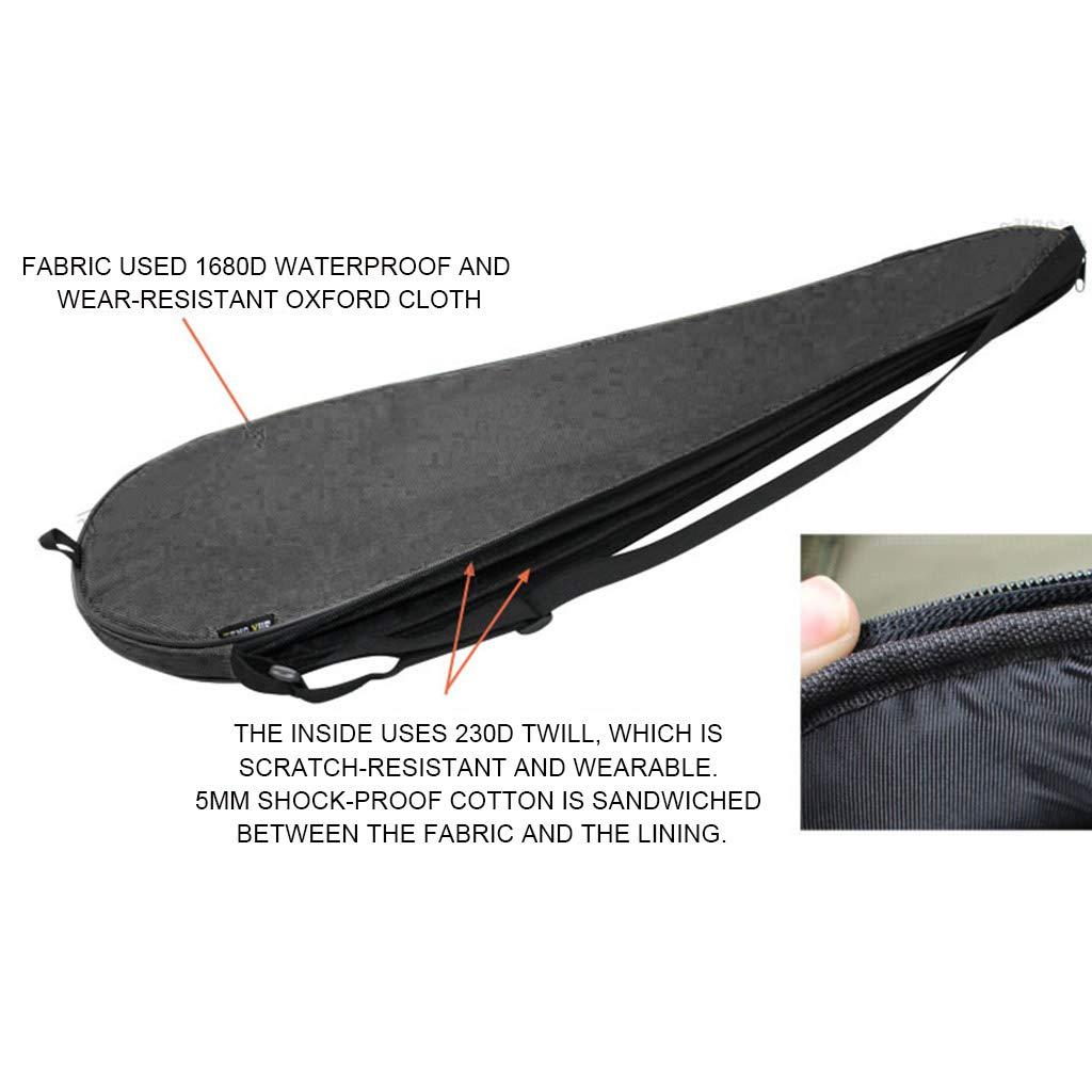 Bolsa de transporte para raqueta de tenis ajustable ligera bolsa de hombro individual negro acolchada