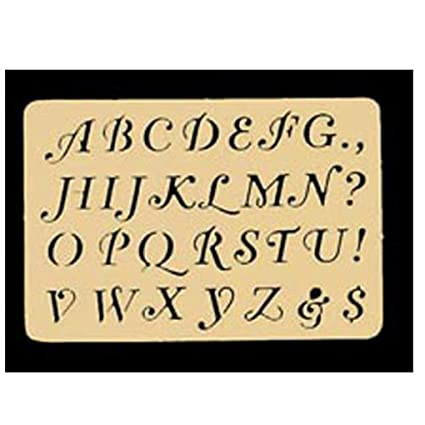 Fancy Alphabet Letters Brass Stencil All Designs Are Approximately 3 8 Inch Tall