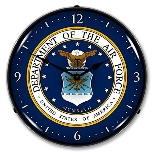 US Air Force Retro Vintage Lighted Clock - retro wall clock