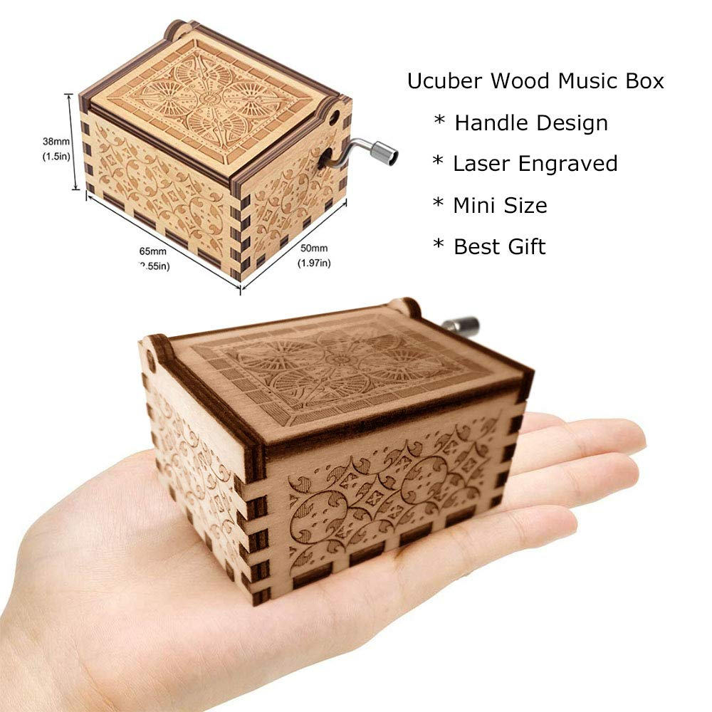 Daughter Birthday//Christmas//Valentines Day Ucuber You are My Sunshine Music Box Wood Laser Engraved Vintage Music Box Best Gift for Son Granddaughter Mom