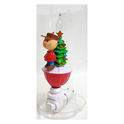 east west distributing charlie brown glittering christmas holiday bubble night light