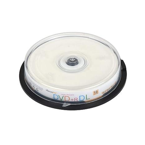 XtremPro 11125 DVD+R 8.5GB DL Printable 10-Pack Interno Unidad de ...