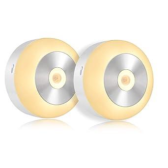 Fitfirst Luz Nocturna Lámpara de Sensor de Movimiento con 3 Modos de Luz de Noche,