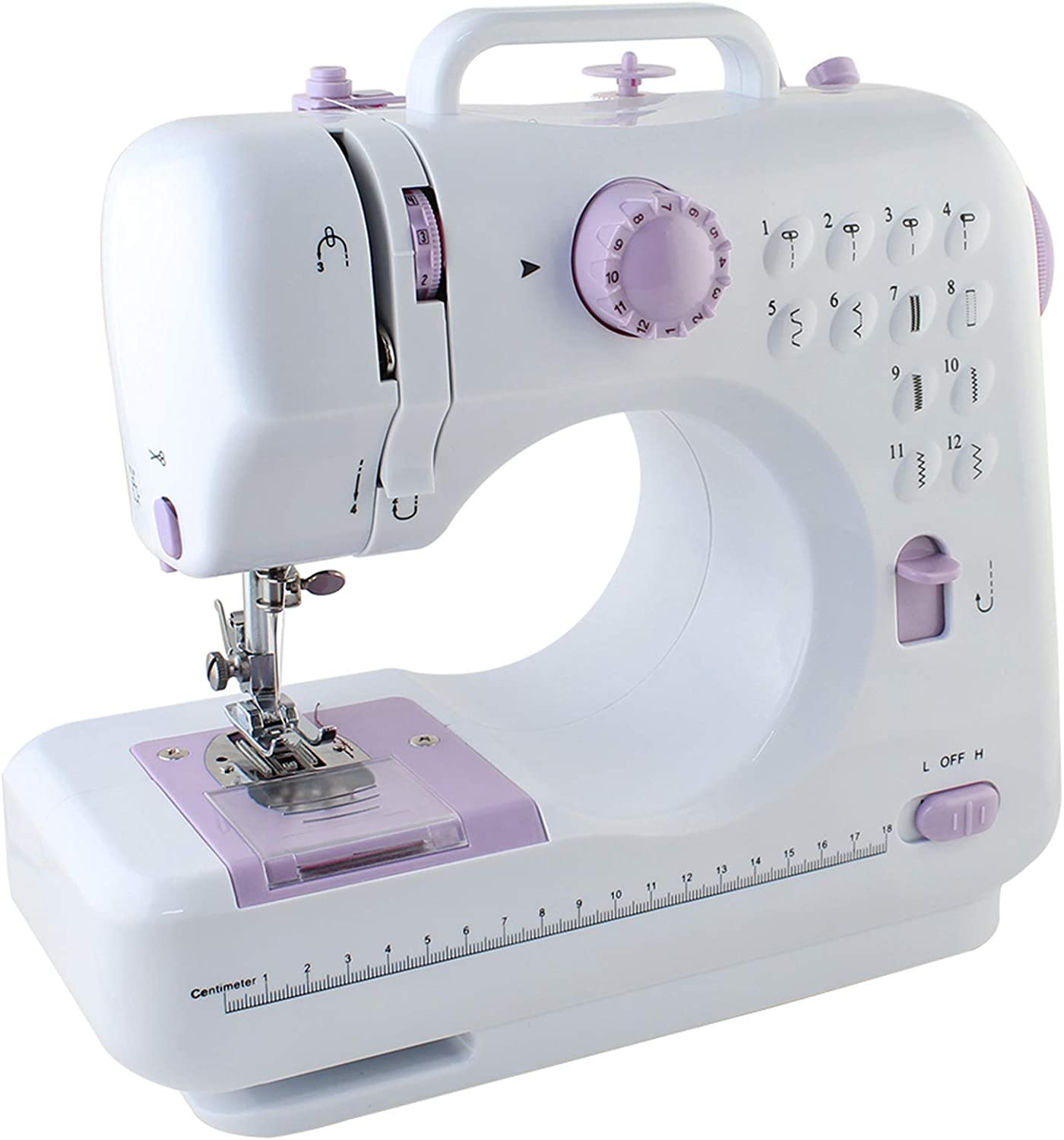 Foot Pedal Small Sewing Machine for Beginners,12 Built-in Stitches