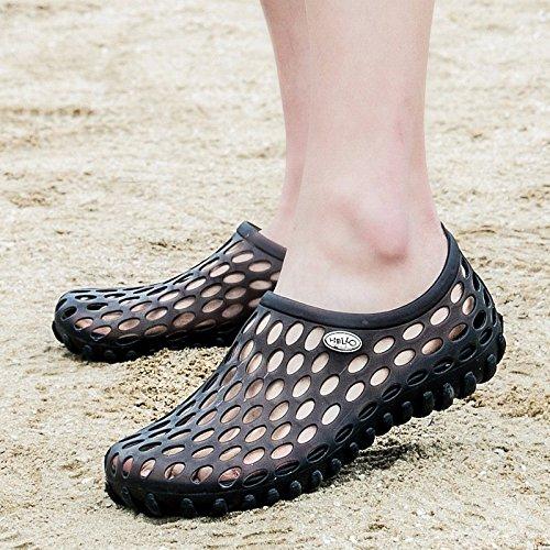 Buco scarpa Uomini estate Spiaggia scarpa Coppia scarpa all'aperto Tempo libero scarpa Uomini alunno sandali ,nero,US=8.5,UK=8,EU=42,CN=43