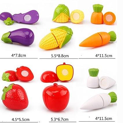 Juego de cuchillos para tabla de cortar frutas, juguete para ...