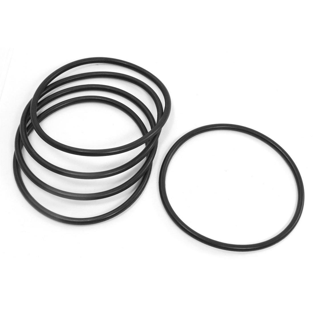 5pcs Remplacement Noir 105mm x 5mm en caoutchouc O Ring Huile joints d'étanchéité Sourcingmap a14022100ux0236