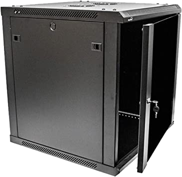 Amazon Com Navepoint 12u Deluxe It Wallmount Cabinet Enclosure 19 Inch Server Network Rack With Locking Glass Door 24 Inches Deep Black With Shelves Electronics