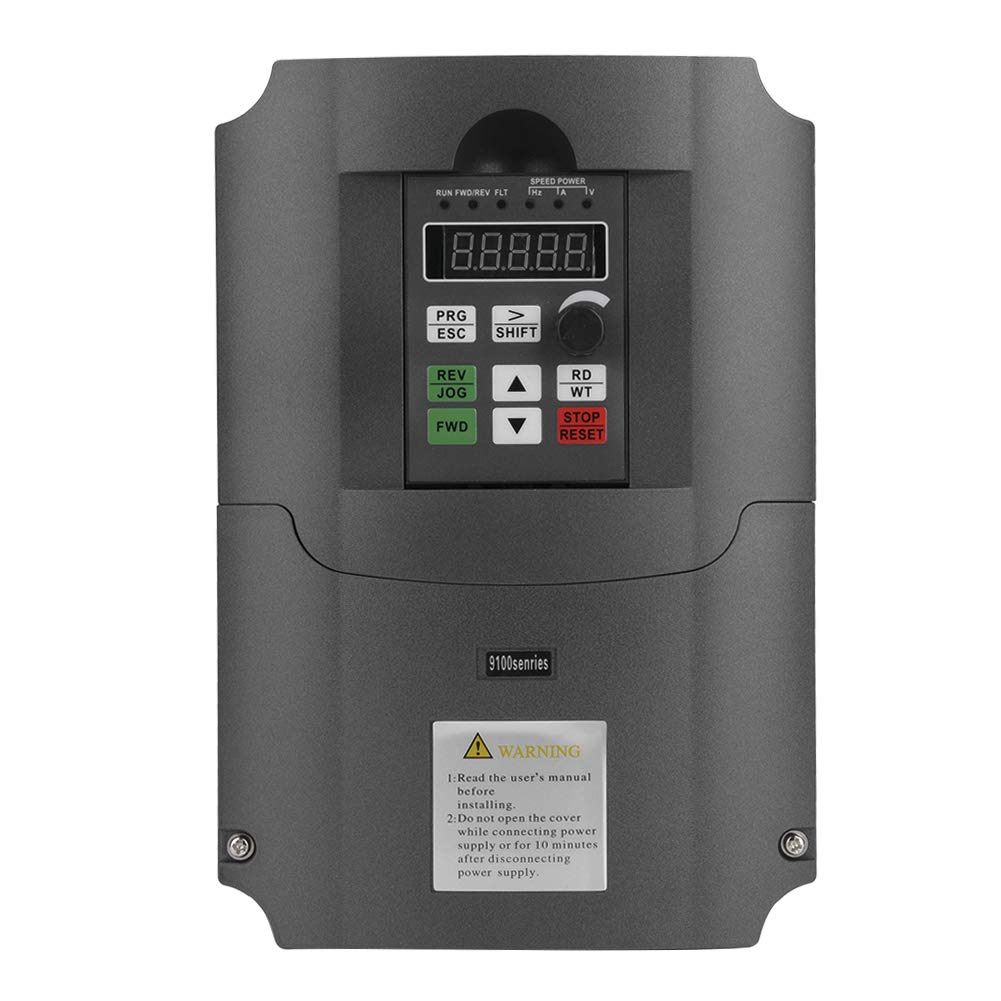 VFD Variable Frequency Drive Single Phase 220VAC Input 3-Phase 380VAC Output 7.5KW Vector Control CNC VFD,Inverter Converter,for Motor Speed Control