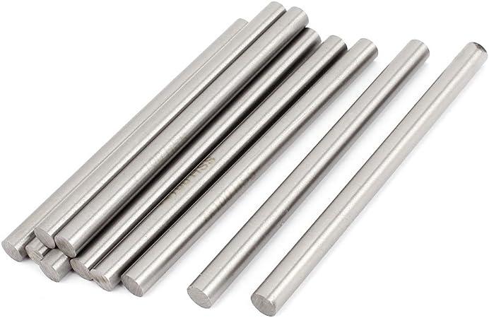 Tours /à 7 mm de diam/ètre et 100 mm de Long-tige ronde Forets HSS /à d/écouper-Lot de 10