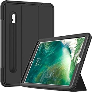 "Cantis iPad Air 3 Case,iPad Air 10.5 Case,iPad Pro 10.5 Case 2017,Slim Heavy Duty Shockproof Rugged Full Body Protective Case with Auto Wake/Sleep for iPad Air 3rd Generation 10.5"" 2019,Black"