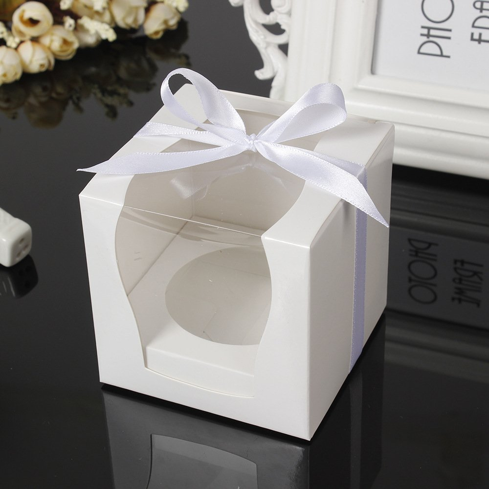 12pcs//lot 9 9CM DIY Craft Paper Box Candy Box Bakery Box Pudding Case for Chiristmas Wedding Baby Shower Birthday Party Gift Box Party Favor Box 9