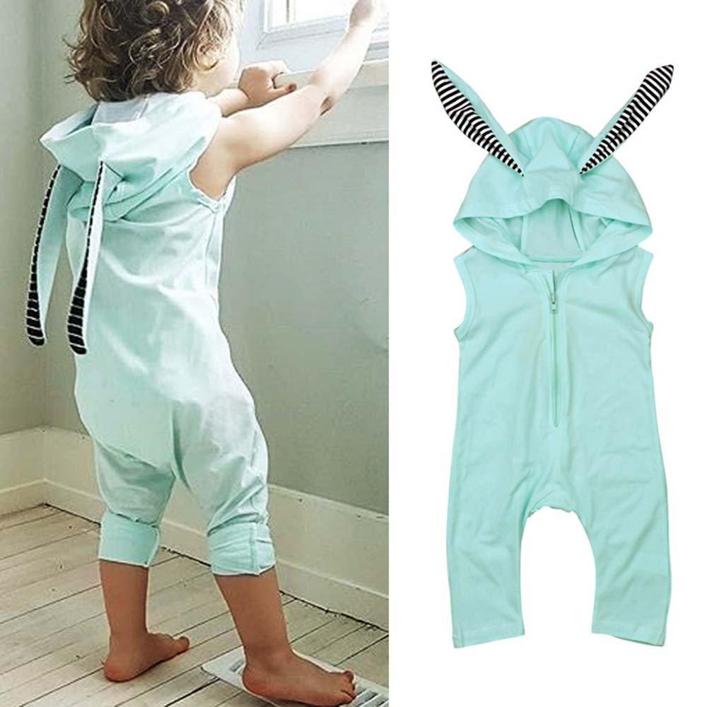 Amazon.com: Lurryly - Mono con capucha para bebé, sin mangas ...