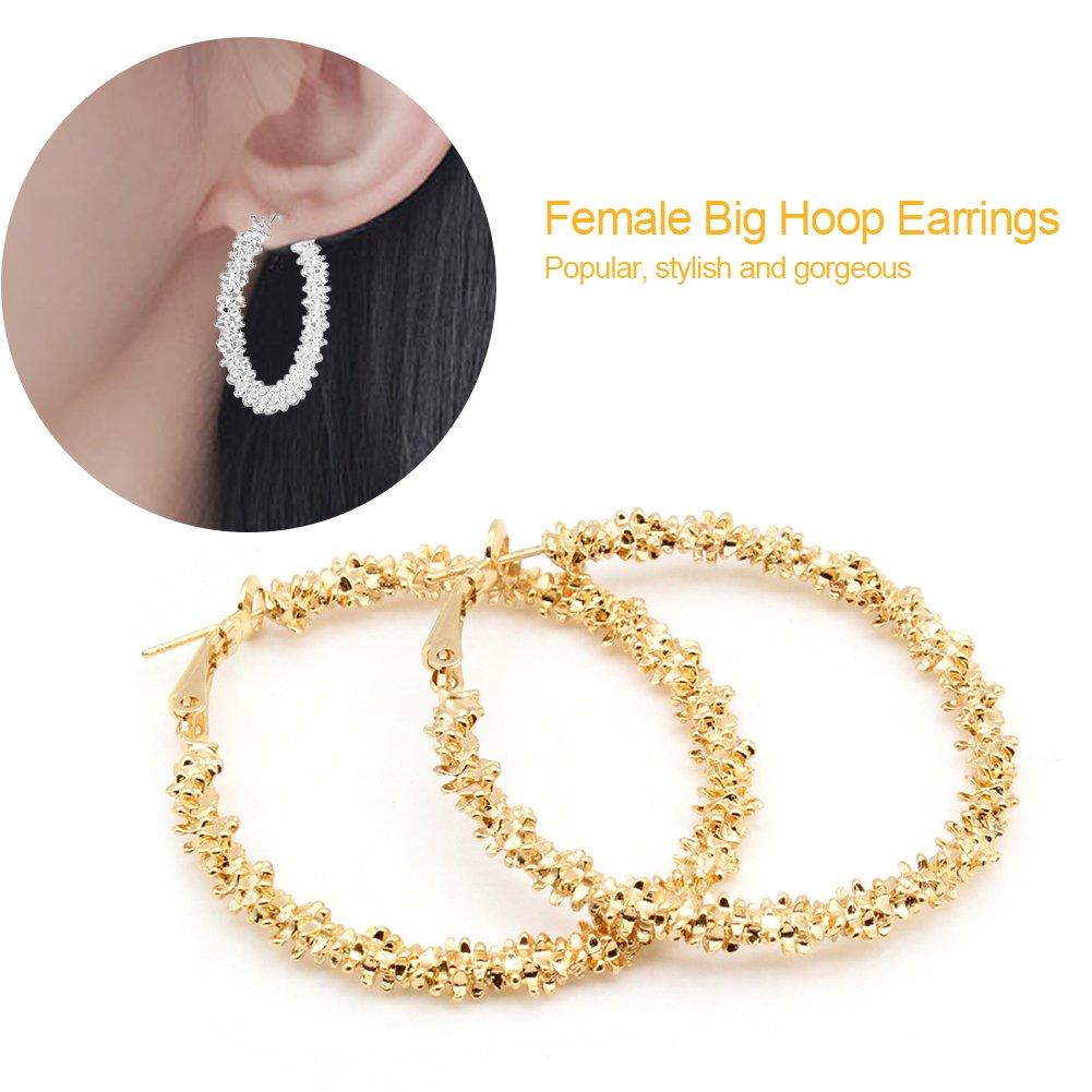 Orecchini donna, 2Colors Orecchini grandi orecchini a cerchio grandi orecchini a cerchio in lega