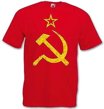 Cccp Vintage Logo T Shirt Soviet Union Marx Lenin Stalin Russia