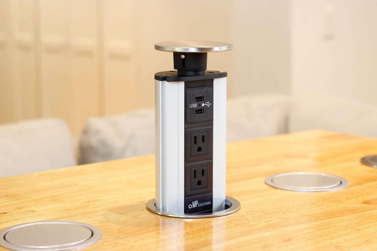 Stainless Steel Pop Up Power Socket (US)