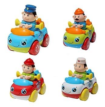 Juego De 4 Juguetes De Relojeria Animal Toy Car Le Treasure Random