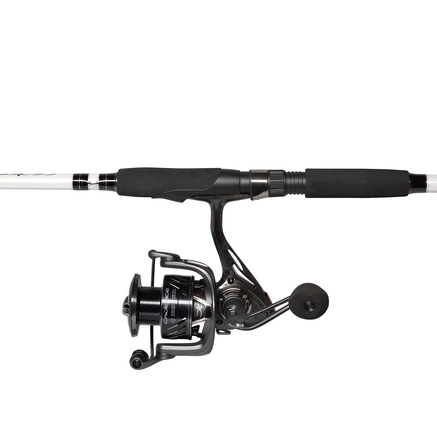Cadence CC5 Spinning Combo Lightweight with 24-Ton Graphite 2-Piece Graphite Rod Carbon Fiber Drag System Smooth Strong Carbon Composite Frame Side Plates Reel Rod Combo