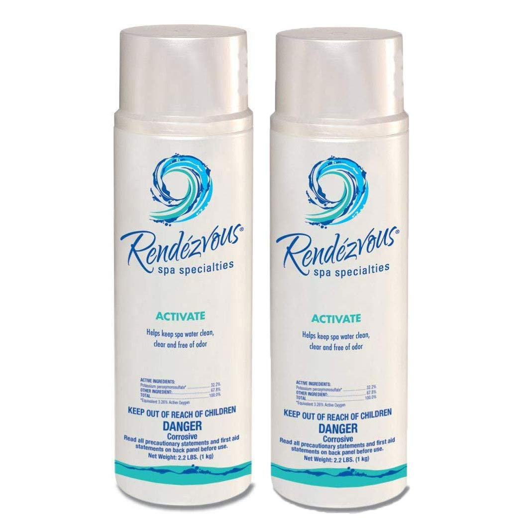 Rendezvous Spa Activate 2.2 Lb 106696A Chlorine Free Oxidizer System, 2 Pack by Renezvous Spa Specialties