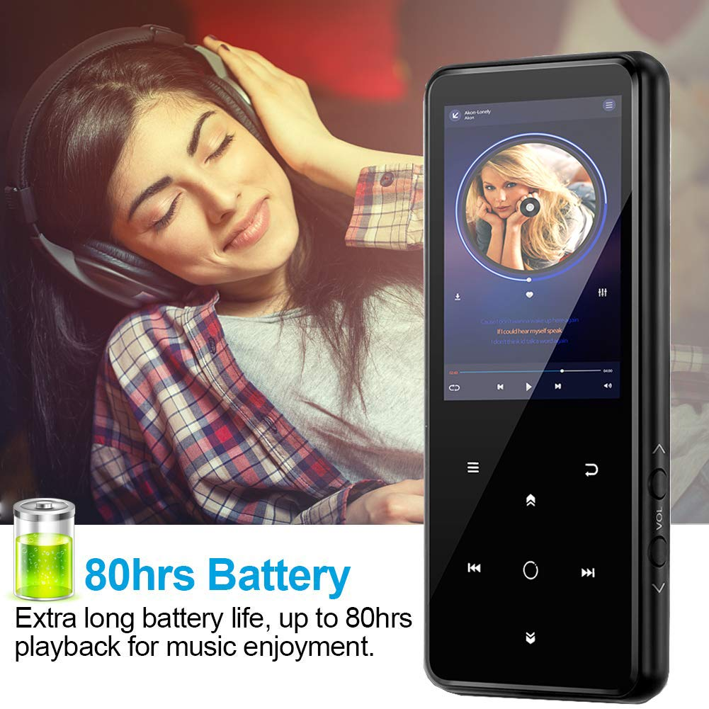 MP3 Player,PELDA Bluetooth MP3 Player,16GB MP3 Player with 2.4'' Large Screen, HiFi Lossless Music Player with Speaker,Touch Buttons,FM Radio/Recorder,16GB Come with a Wired Headphone by Pelda (Image #9)