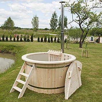 Wunderschönes Hot Tub/Holzfass für EIN Bad im Freien ...