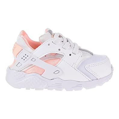 NIKE Huarache Run White/Crimson Tint (Toddler)