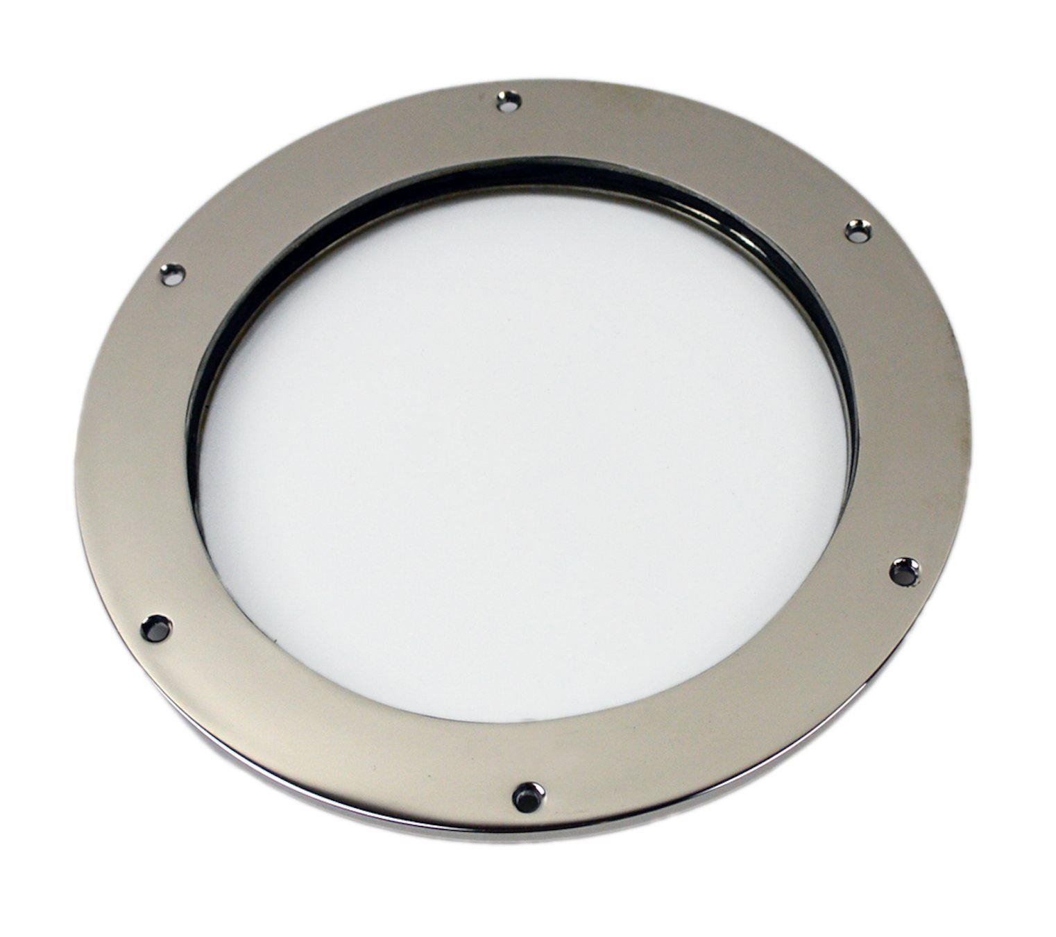 "Nautical Tropical Imports 8"" Nickel Finish over Solid Brass Deadlight Porthole Window - Wall Mount Decor"