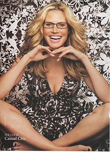 Magazine Print Ad  Heidi Klum For Lenscrafters Freezeframe  Dolce   Gabbana   Bold   Daring  Casual Chic  Carefree    Uber Femme Eye Glasses