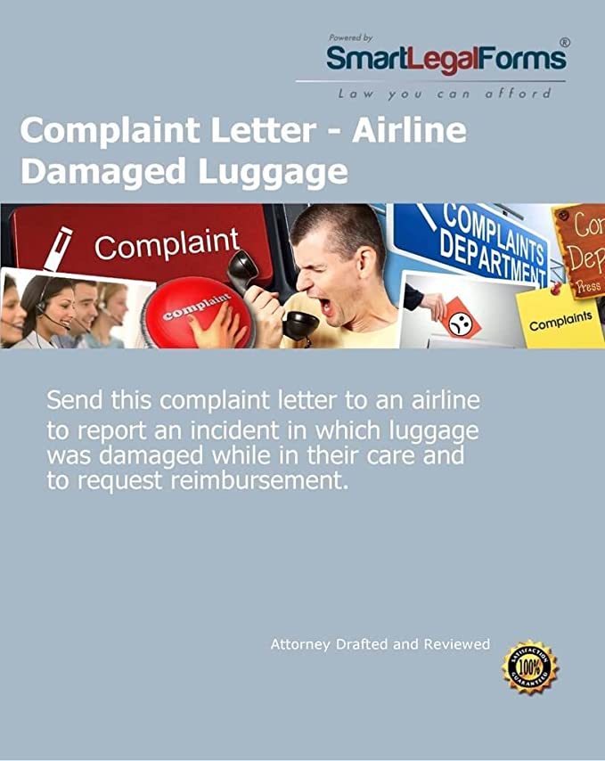 Amazon Com Complaint Letter Airline Damaged Luggage Instant Access Software
