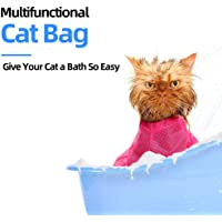 Goolsky Pet Cat Restraint Bag for Cat Bath Washing Cutting Nails Ear Cleaning Mesh Quick Dry Grooming Bag