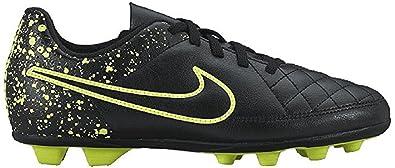 NIKE Tiempo Rio II FG R Soccer Boots Black Green 4.5Y
