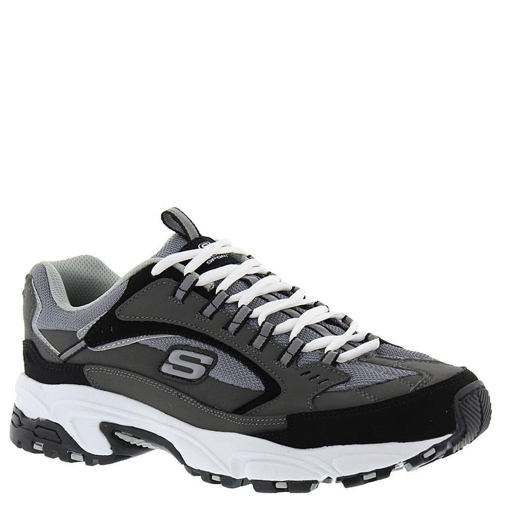 Skechers Men's Stamina Cutback Training Shoe,Charcoal/Black,US 7 M