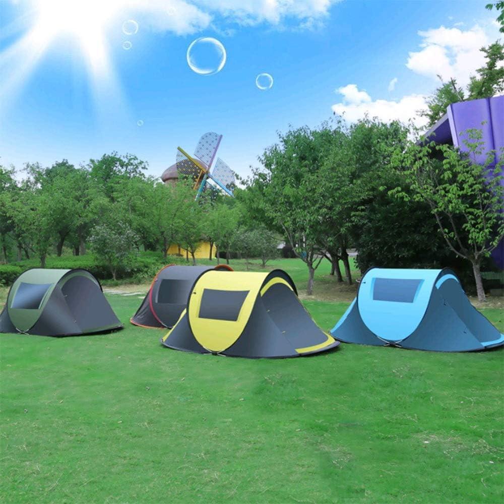 OaLt-t Tienda de campaña al Aire Libre de 2-3 Personas con Velocidad de una Sola Capa Impermeable Impermeable Que acampa Tienda de Playa (Color : Yellow) Yellow