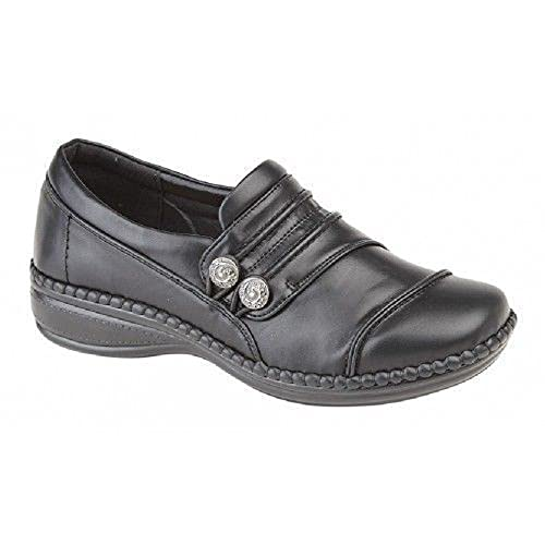 0ddc85224a5a Boulevard Womens Extra Wide EEE Fit Shoes Size 3-9 Black  Amazon.co ...