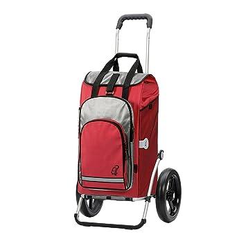 Andersen Carro de compra Royal con bolsa Hydro roja, volumen 60L, compartimento termico, marco aluminio y ruedas con rodamiento de bolas 29 cm: Amazon.es: ...